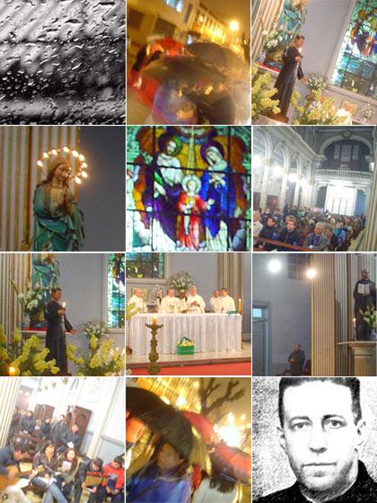 MISA CELEBRACION DE SAN ALBERTO HURTADO EN EL TEMPLO PADRES JESUITAS DE VALPARAISO, 19.00 HRS, 2009.